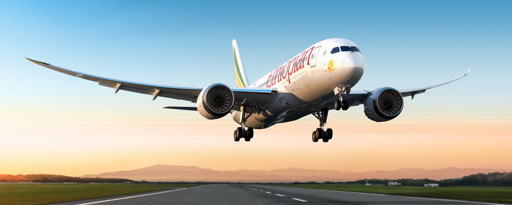 Ethiopian airlines aircarft