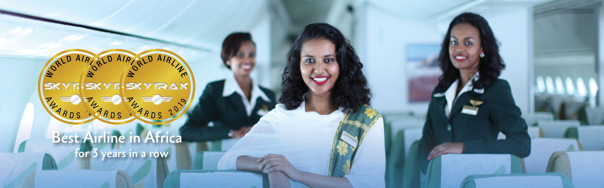 Ethiopian Airlines Group is Voted 'Best Airline in Africa' for 3rd Consecutive Year at Skytrax 2019 World Airlines Awards