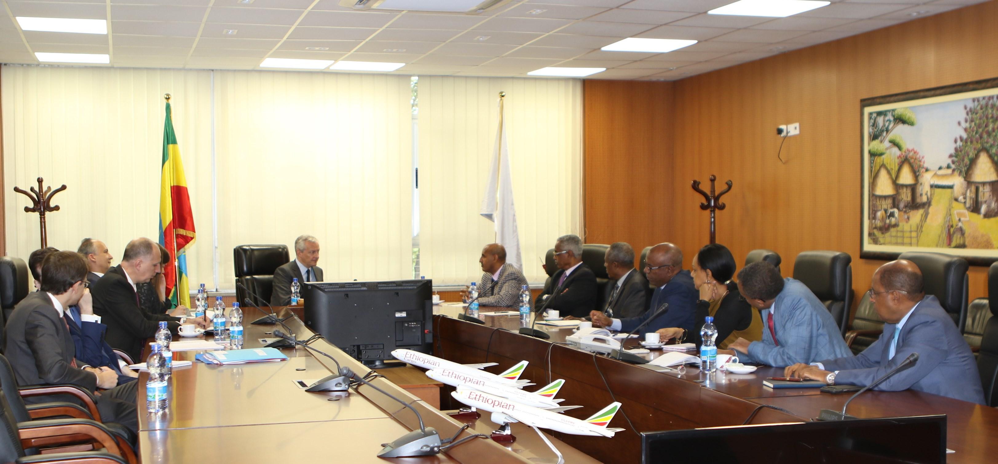 French Minister of Economy & Finance Visits Ethiopian Addis Ababa, 22 July 2019